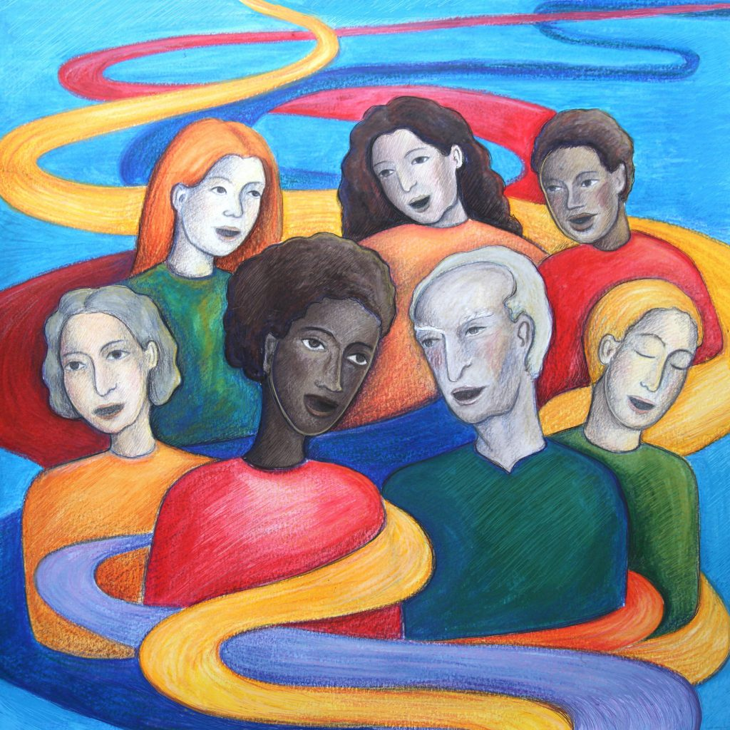 """""""Community"""" Illustration by May Kindred-Boothby"""