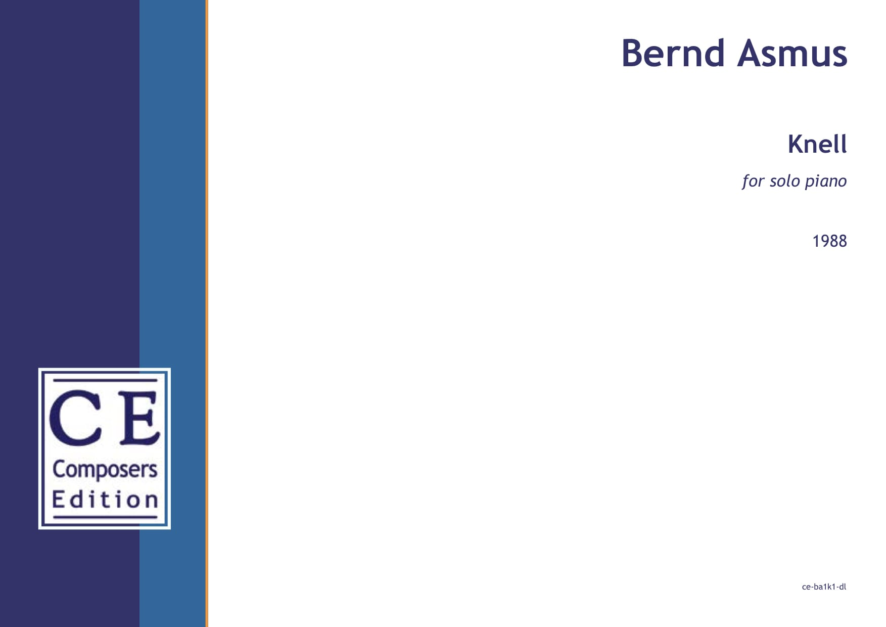 Bernd Asmus: Knell for solo piano