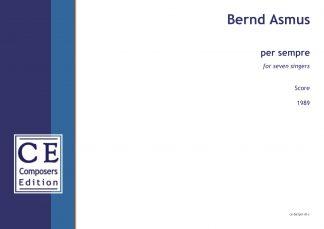 Bernd Asmus: per sempre for seven singers