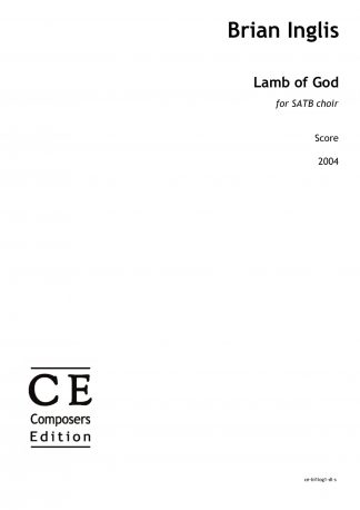 Brian Inglis: Lamb of God for SATB choir