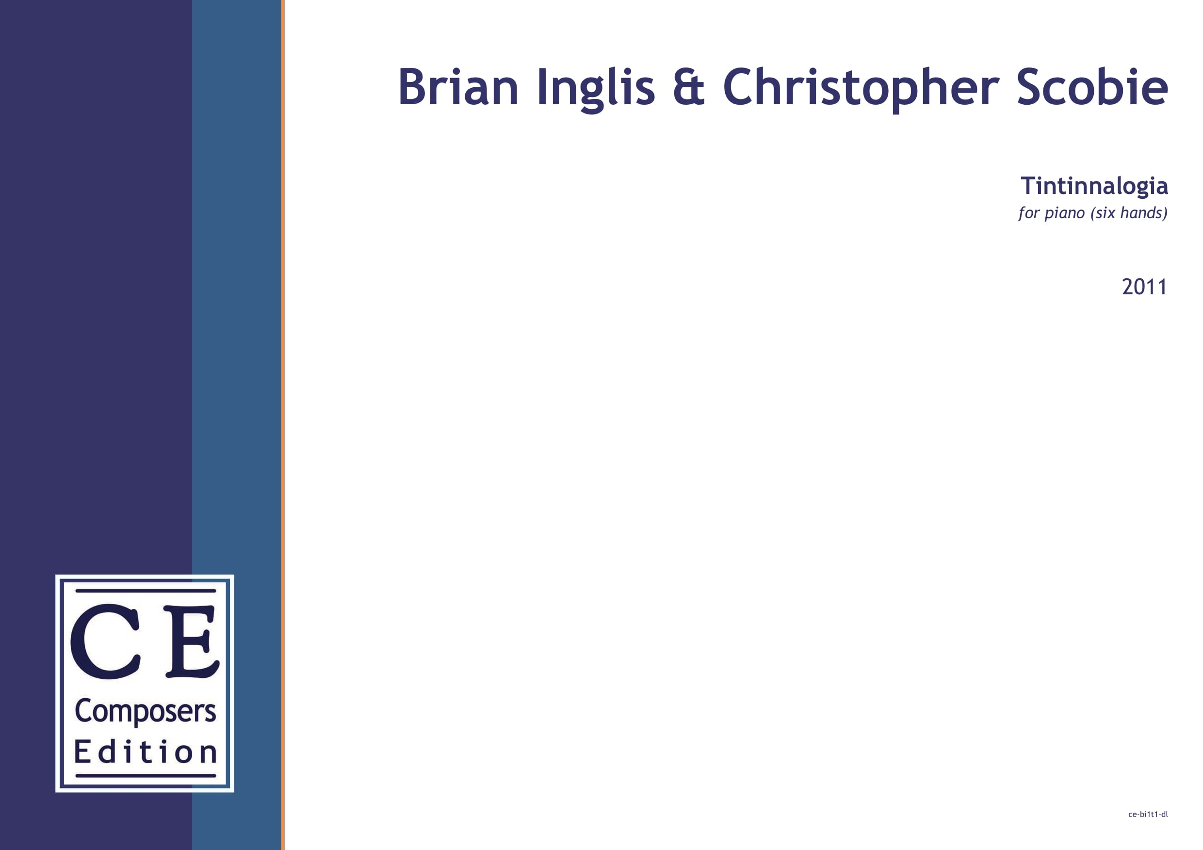 Brian Inglis: Tintinnalogia for piano (six hands)