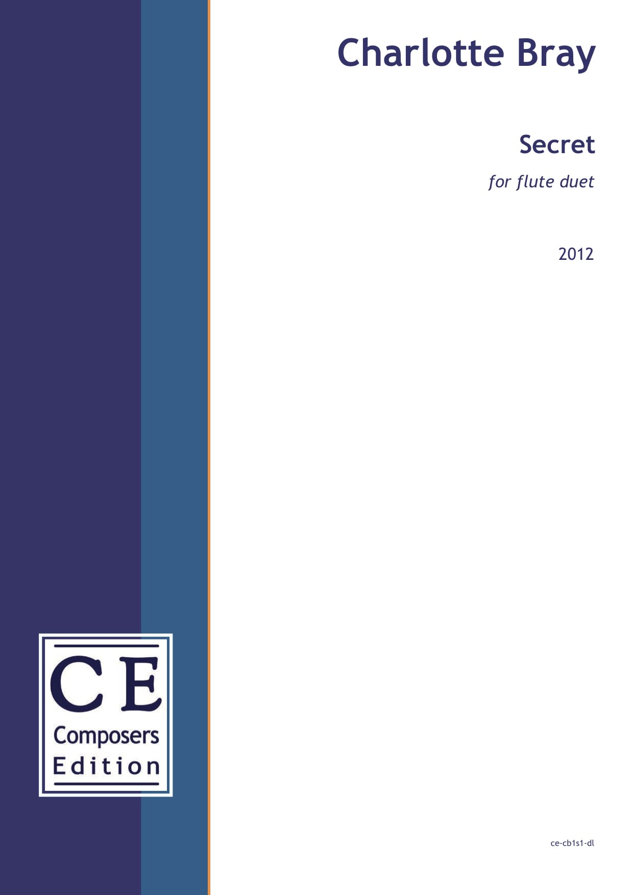 Charlotte Bray: Secret for flute duet