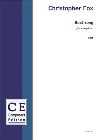 Christopher Fox: Boat Song for solo piano
