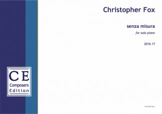 Christopher Fox: senza misura for solo piano