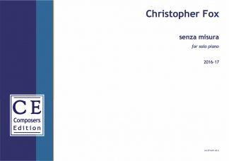Christopher Fox: senza misura for solo piano