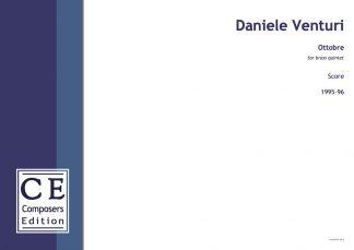 Daniele Venturi: Ottobre for brass quintet