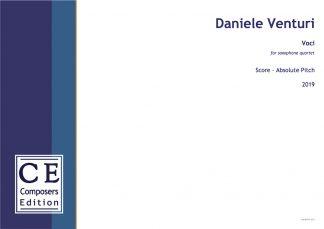 Daniele Venturi: Voci for saxophone quartet