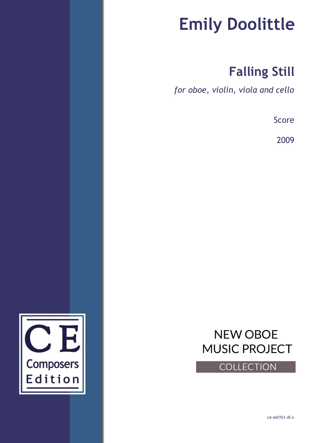 Emily Doolittle: Falling Still for oboe, violin, viola and cello