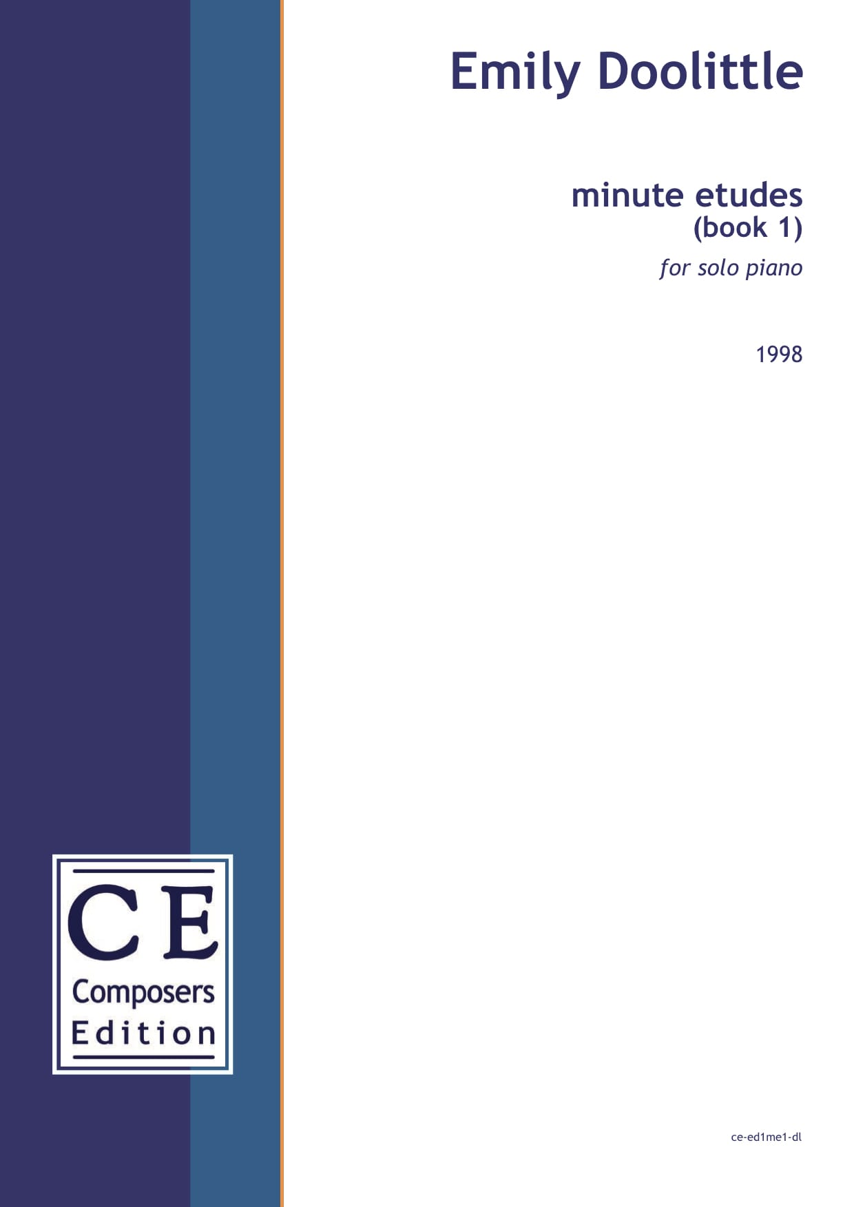 Emily Doolittle: minute etudes (book 1) for solo piano