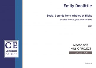 Emily Doolittle: Social Sounds from Whales at Night for oboe d'amore, percussion and tape