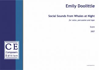 Emily Doolittle: Social Sounds from Whales at Night for voice, percussion and tape