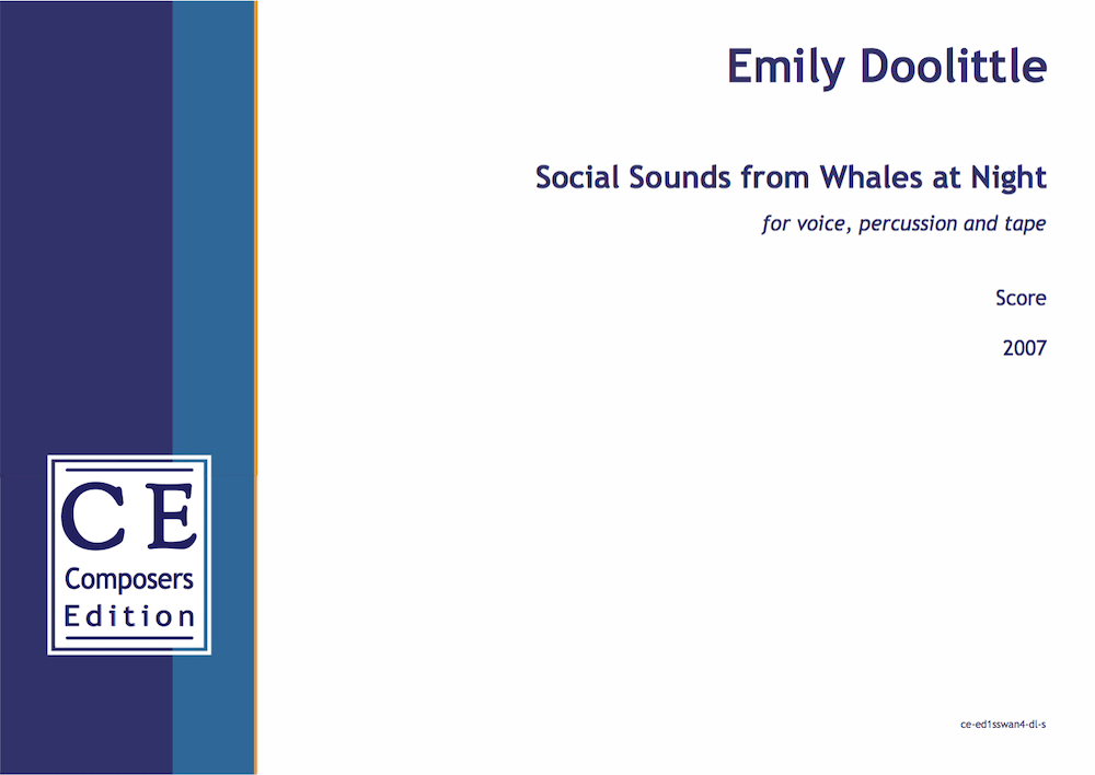 Social Sounds from Whales at night (vocal version)