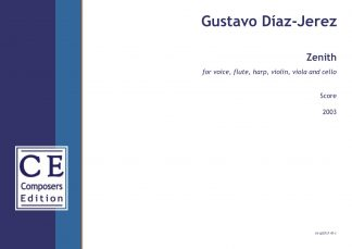 Gustavo Diaz-Jerez: Zenith for voice, flute, harp, violin, viola and cello