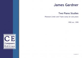 James Gardner: Two Piano Studies 'Phantom Limbs' and 'Triple Jump' for solo piano