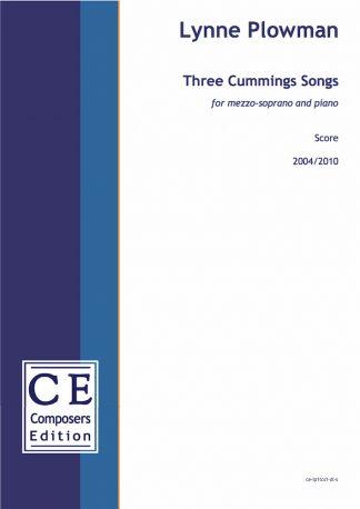 Lynne Plowman: Three Cummings Songs for mezzo-soprano and piano