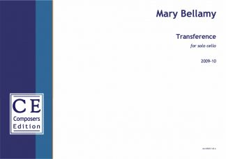 Mary Bellamy: Transference for solo cello