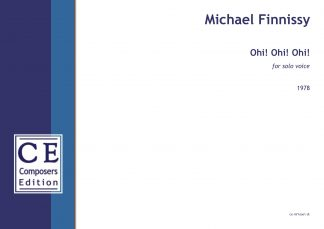 Michael Finnissy: Ohi! Ohi! Ohi! for solo voice