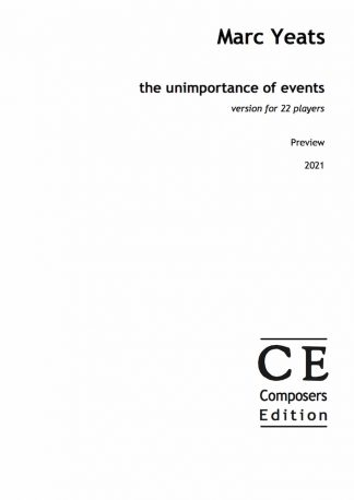 Marc Yeats: the unimportance of events version for 22 players