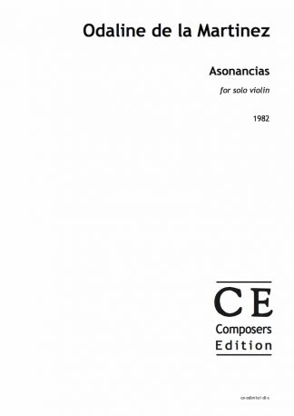 Odaline de la Martinez: Asonancias for solo violin