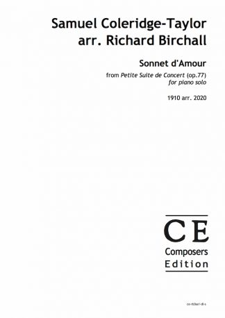 Samuel Coleridge-Taylor arr. Richard Birchall: Sonnet d'Amour from Petite Suite de Concert (op.77) for piano solo