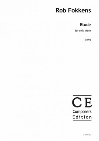 Rob Fokkens: Etude for solo viola