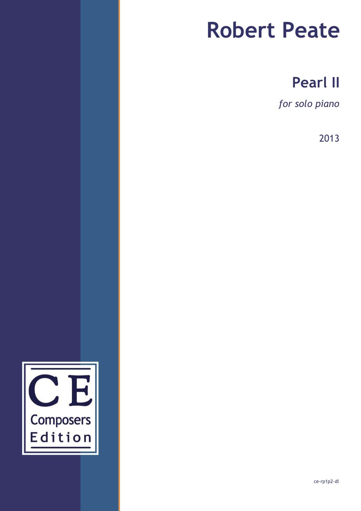Robert Peate: Pearl II for solo piano