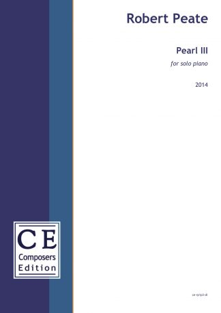 Robert Peate: Pearl III for solo piano