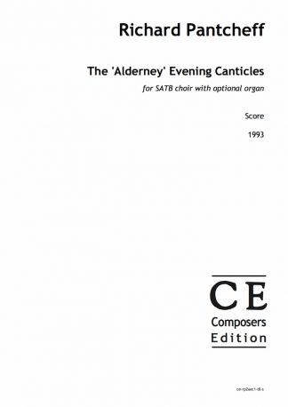 Richard Pantcheff: The 'Alderney' Evening Canticles for SATB choir with optional organ