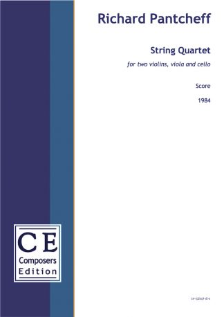 Richard Pantcheff: String Quartet for two violins, viola and cello