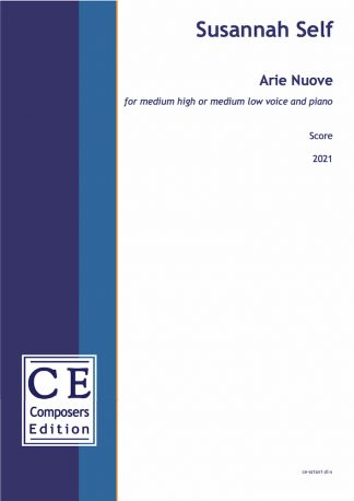 Susannah Self: Arie Nuove for medium high or medium low voice and piano