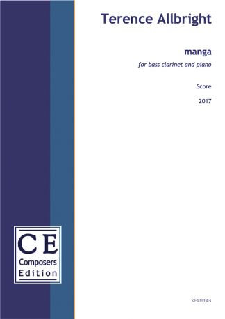 Terence Allbright: manga for bass clarinet and piano